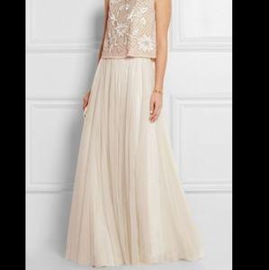 Needle & Thread Cream Tulle Maxi Skirt Size 2